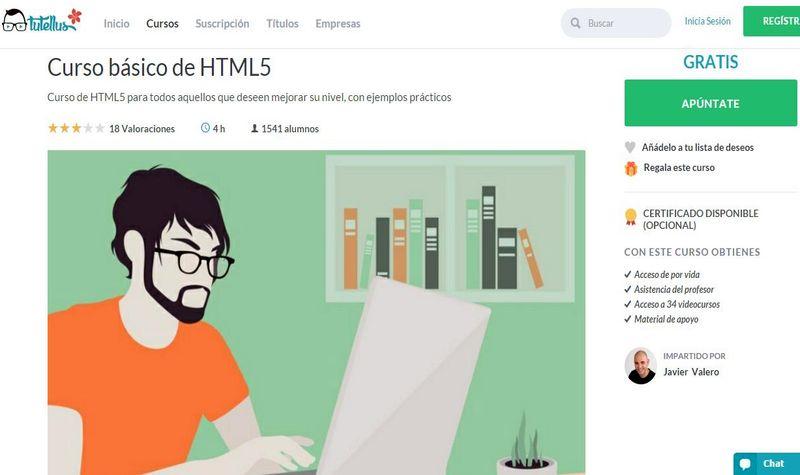 Curso básico de HTML5, online y gratuito