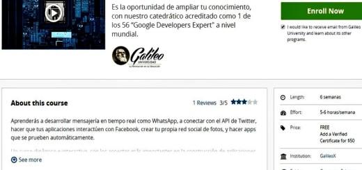Curso gratuito de Desarrollo de apps profesionales para Android