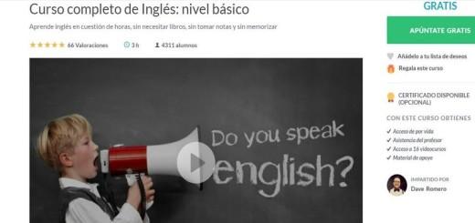 Curso de Inglés, nivel básico, completo y gratuito