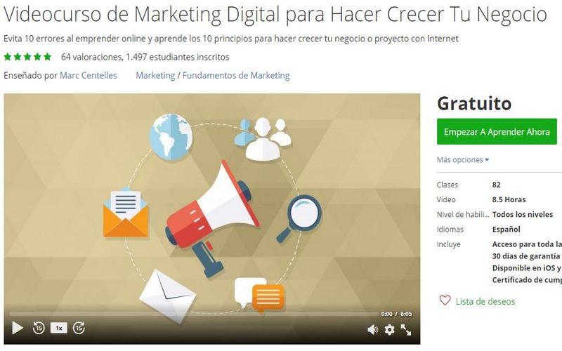 Un videocurso de Marketing Digital para seguir online