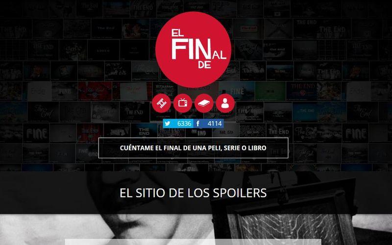 El Final De: página con spoilers de películas, libros y series