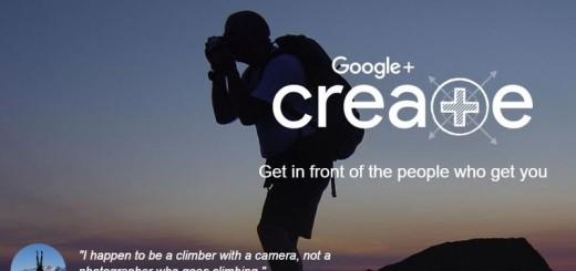 Google+ Create: un premio a los usuarios más activos en la red social