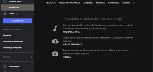 Genial reproductor de Escritorio para Google Play Music