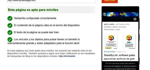 Herramienta de Bing para comprobar si tu web es Mobile Friendly