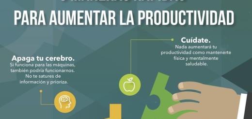 Incrementar la productividad: 6 maneras rápidas (infografía)