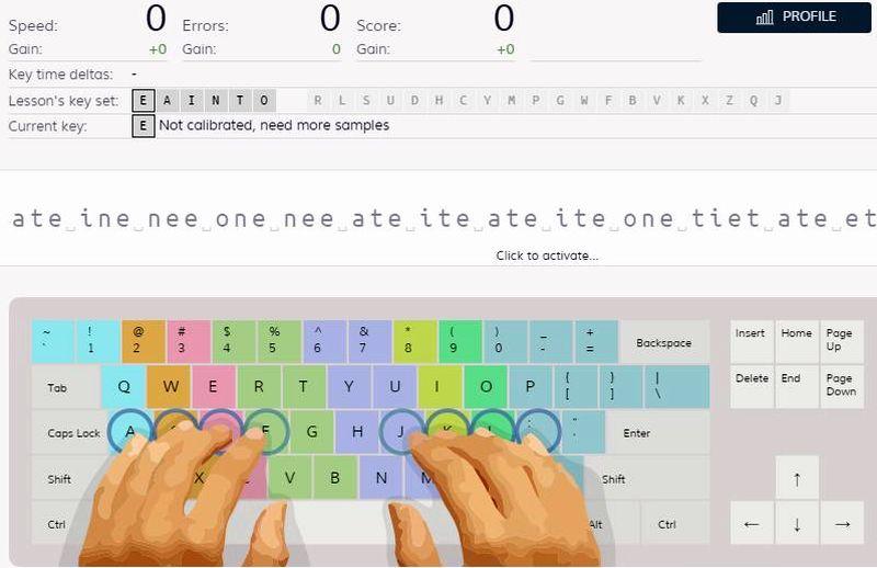 Keybr: aprende a escribir al teclado de forma rápida y sin mirar