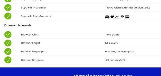 My Browser Specs: todas las características de tu Navegador