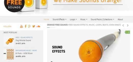 Orange Free Sounds: muchos sonidos gratuitos para descargar