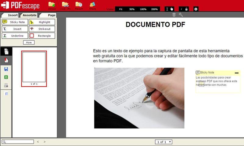 PDFescape: crea o edita, gratis y online, documentos PDF