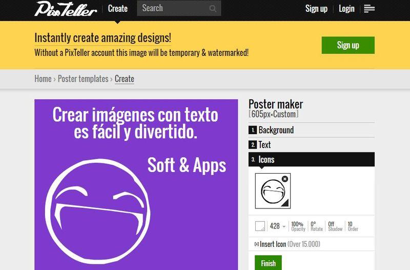 PixTeller: crea online todo tipo de imágenes con tus textos