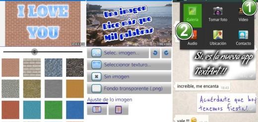 TextArt: crea bellos textos en tu Android y compártelos
