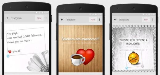 Textgram: añade textos y decora fotos para redes sociales (Android, iOS)