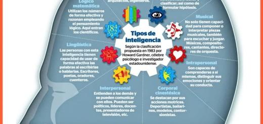 Descubre los distintos Tipos de Inteligencia con esta infografía