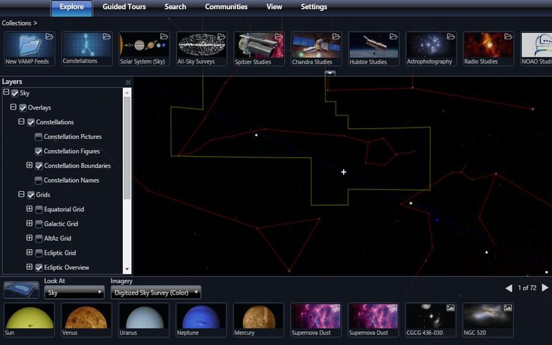 WorldWide Telescope: telescopio virtual para explorar el Universo