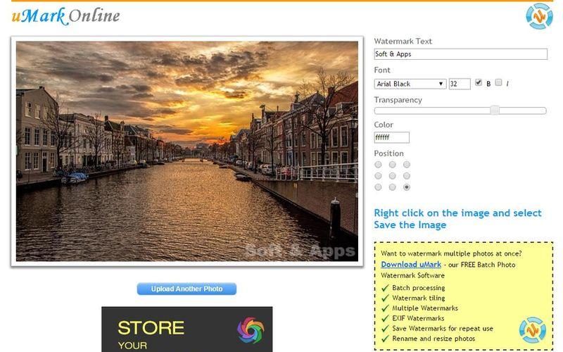uMark Online: utilidad web para agregar marcas de agua a tus fotos