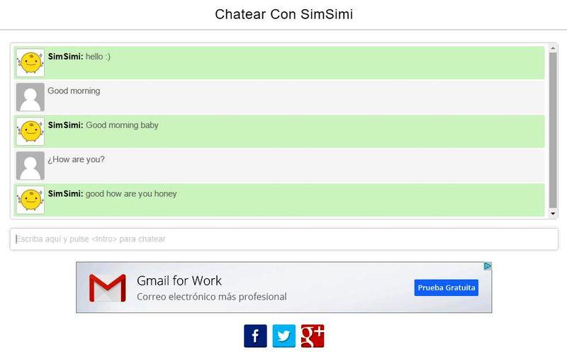 SimSimi: mascota virtual que causa furor, para Web, Android e iOS