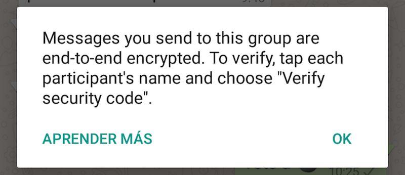 WhatsApp activa el cifrado punto a punto para garantizar nuestra privacidad