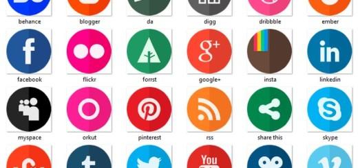 Circle Flat Icons: 24 iconos sociales gratuitos en formato PNG