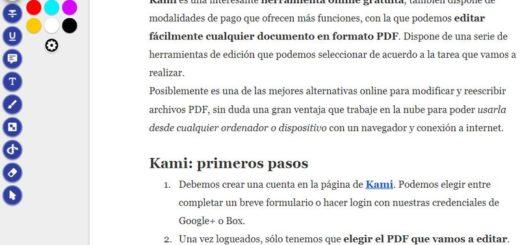 Kami: potente editor web gratuito para documentos PDF