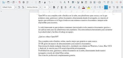 Open365: suite ofimática open source en la nube