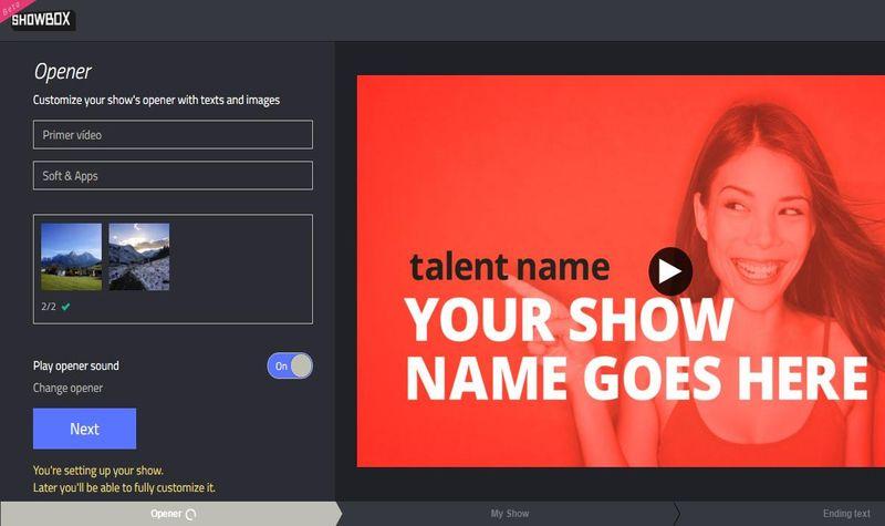 Showbox Showbox: editor de vídeo online y gratuito