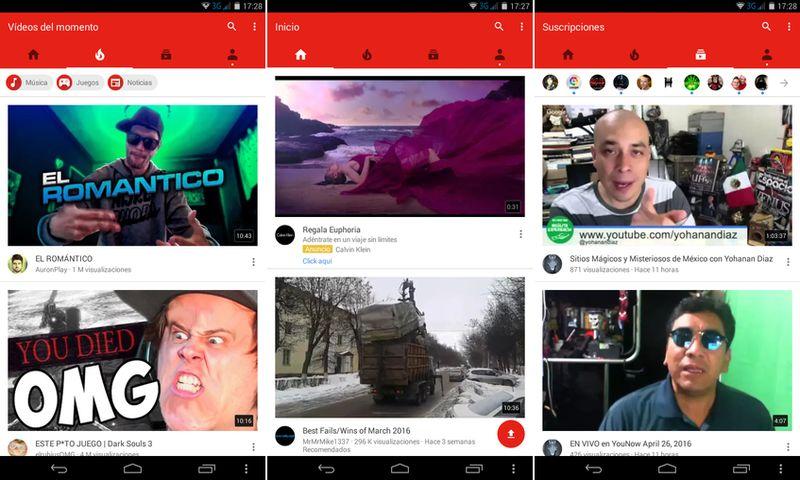 YouTube para móvil cambia su look y se vuelve más inteligente