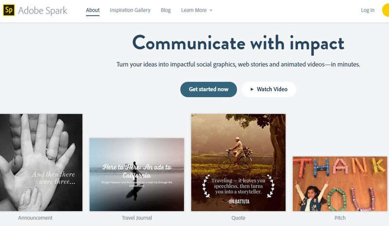 Adobe Spark: web gratuita para crear vídeos, historias web e imágenes sociales