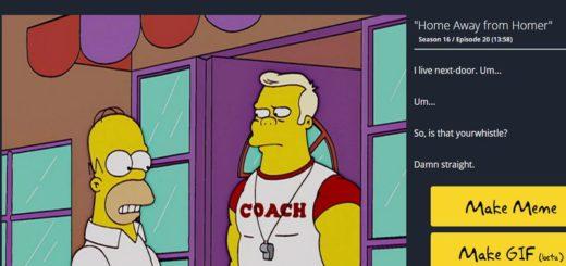 Crea GIFs animados de Los Simpsons con Frinkiac