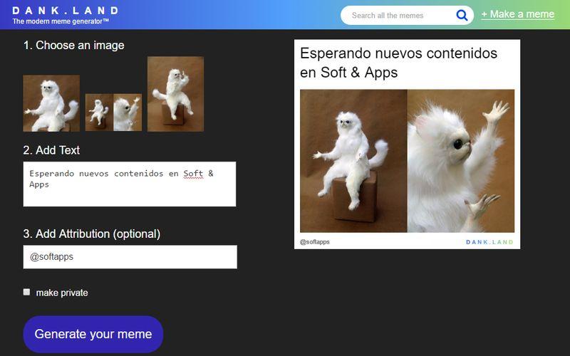 Dank Land: web para crear divertidos Memes rápidamente
