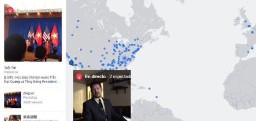 Facebook Live Map: mapa mundial que localiza las emisiones de Facebook Live