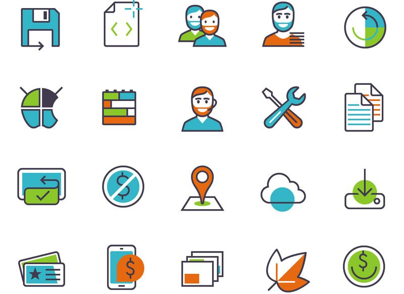 Packs de iconos gratuitos - Apps And Products Features