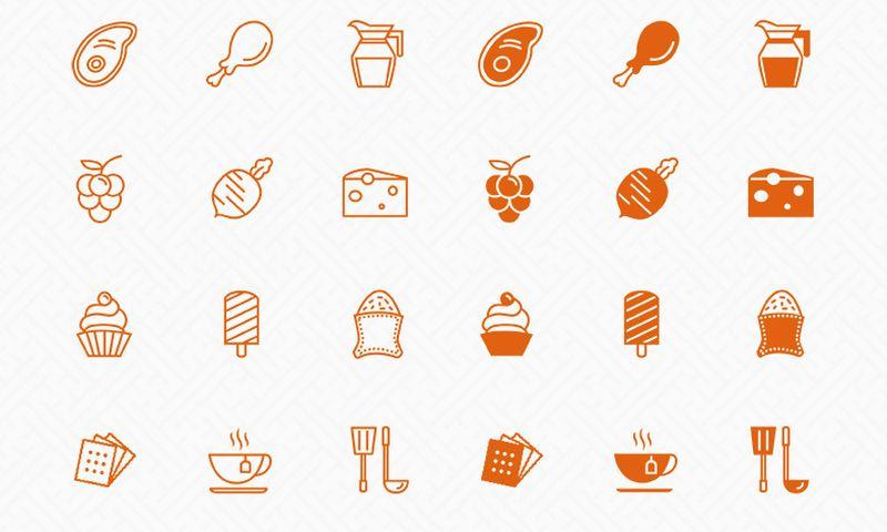 Packs de iconos gratuitos - Kitchen Icons