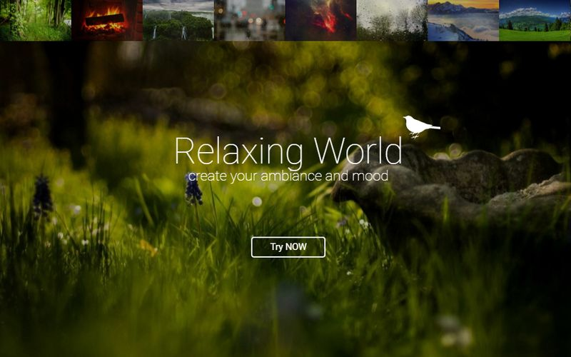 Relaxing World Relaxing World: crea online sonidos relajantes y compártelos