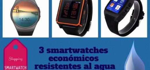 3 smartwatches económicos resistentes al agua