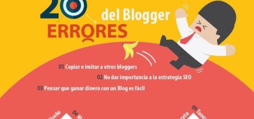 20 errores de bloggers que no te puedes permitir