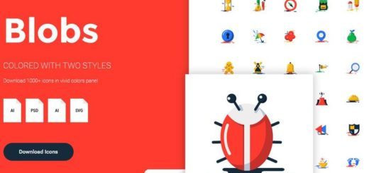 Más de 1000 iconos gratuitos, con estilo plano y vivos colores