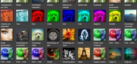 Fotoview - aplicar efectos online