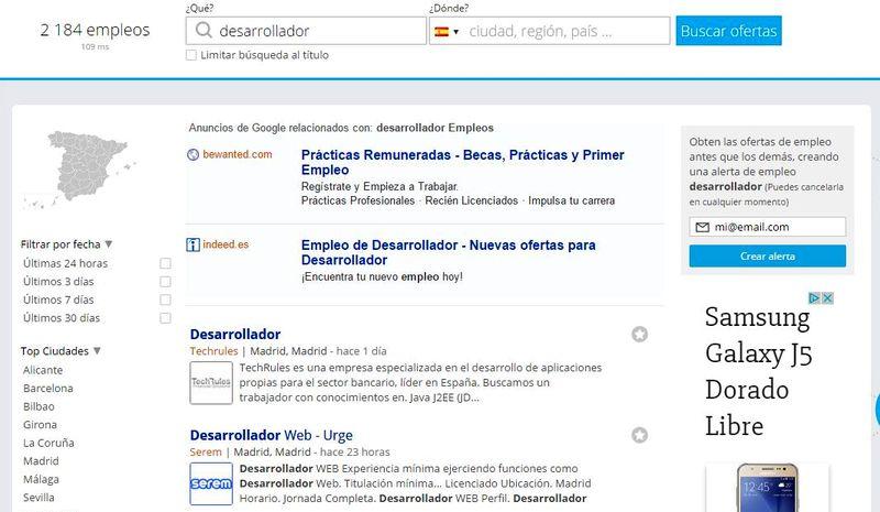 Buscador de Empleo Lista de resultados Neuvoo: buscador de empleo en 64 países distintos