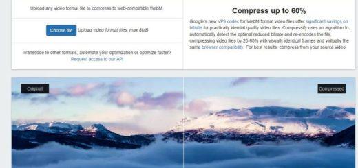 Compressify: utilidad web para convertir vídeos a WebM