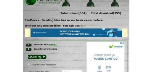 Filemoves: envía archivos de hasta 5 GB con contraseña