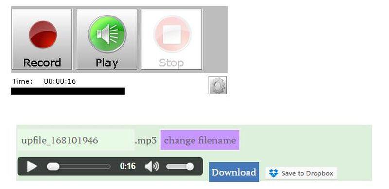 Grabador de voz online - Record MP3 Online