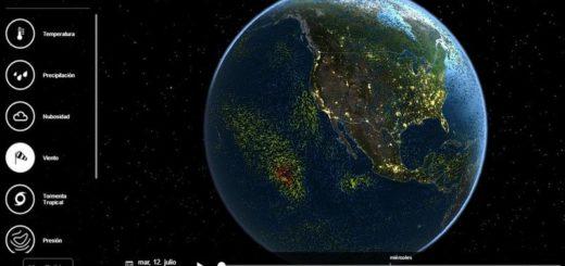 MeteoEarth - mapa interactivo 3D con informacion meteorologica