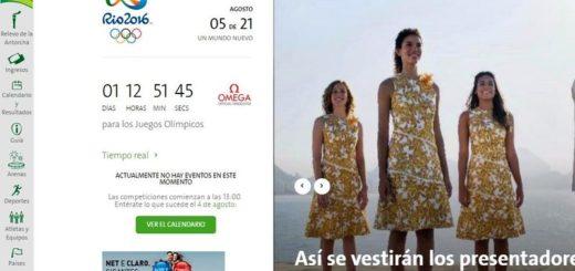 Juegos Olímpicos Río: seguimiento desde la web y apps oficiales