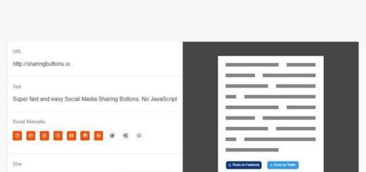Sharingbuttons: genera online botones sociales sin JavaScript ni rastreo