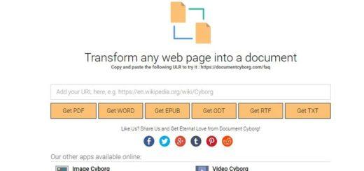 Document Cyborg: convierte, y descarga, cualquier web en un documento