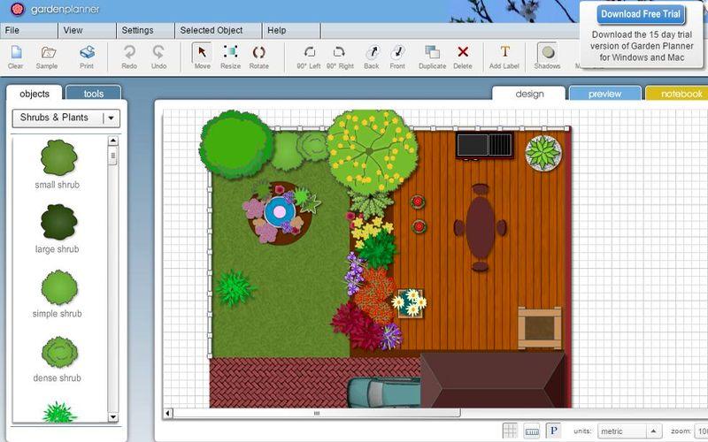 Garden planner aplicaci n web para crear planos de for Realizar planos