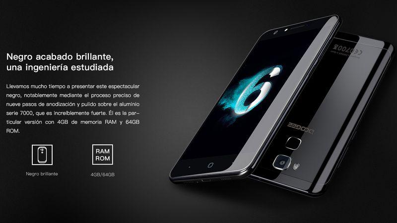 Doogee Y6: nuevo smartphone con un precioso acabado en negro brillante