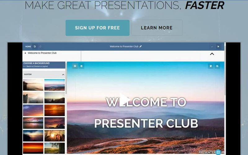 Presenter Club: crea presentaciones y compártelas, gratis y online