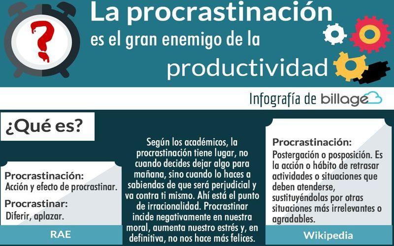 Aumenta tu Productividad dejando a un lado la Procrastinación