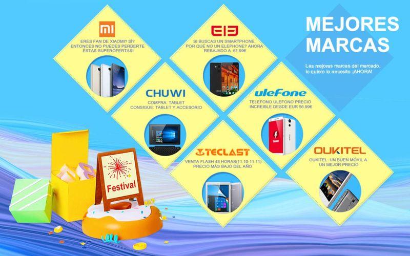 Grandes ofertas en smartphones y tecnología en Festival 11.11 de Igogo